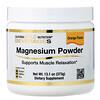 California Gold Nutrition, Poudre de magnésium pour boisson, Saveur orange, 373g