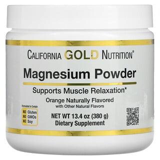 California Gold Nutrition, マグネシウムパウダー飲料、オレンジ風味、373g(13.1オンス)