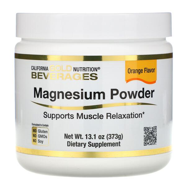 마그네슘 파우더 음료, 오렌지향, 373g(13.1oz)