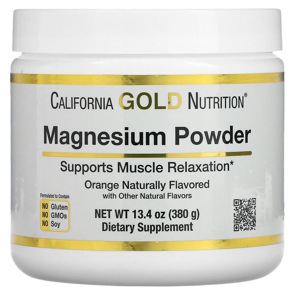 Magnesium Powder Beverage, Orange Crush, 13.4 oz (380 g)