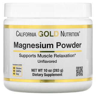 California Gold Nutrition, 镁粉饮品,原味,10 盎司(283 克)