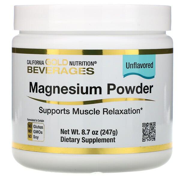 Magnesium Powder Beverage, Unflavored, 8.7 oz (247 g)