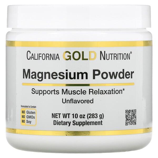 Magnesium Powder Beverage, Unflavored, 10 oz (283 g)