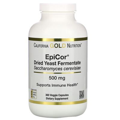 Купить California Gold Nutrition EpiCor, сухой дрожжевой ферментат, 500мг, 360растительных капсул