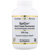 Epicor, Dried Yeast Fermentate, 500 mg, 360 Veggie Capsules - фото