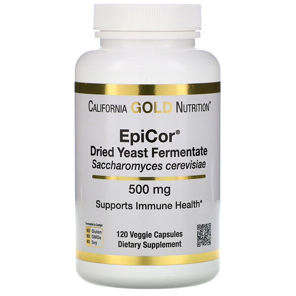EpiCor, Dried Yeast Fermentate, 500 mg, 120 Veggie Capsules