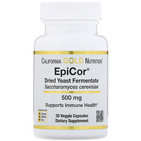 EpiCor, Dried Yeast Fermentate, 500 mg, 30 Veggie Capsules - фото