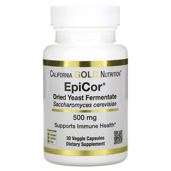 California Gold Nutrition, EpiCor, Fermentado de Levedura Seca, 500 mg, 30 Cápsulas Vegetais