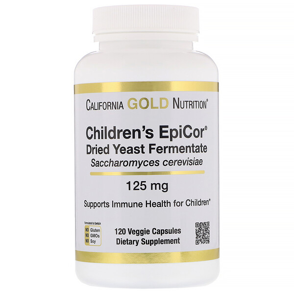 California Gold Nutrition, Children's Epicor, 125 mg, 120 Cápsulas Vegetais