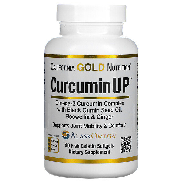 Curcumin UP, Omega-3 & Curcumin Complex, Joint Mobility & Comfort Support, 90 Fish Gelatin Softgels