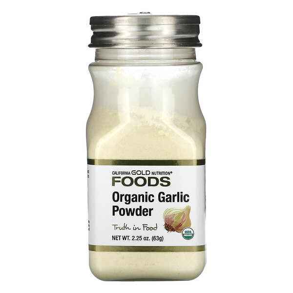 Organic Garlic Powder, 2.25 oz (63 g)