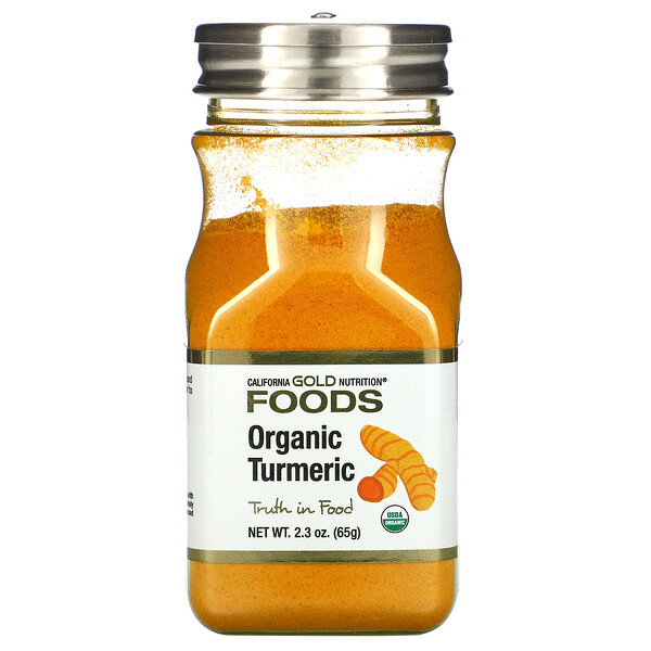 California Gold Nutrition, Organic Turmeric, 2.3 oz (65 g)