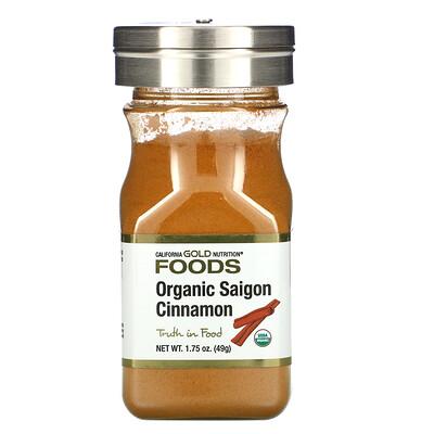 California Gold Nutrition органическая сайгонская корица, 49г (1,75унции)