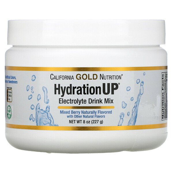 California Gold Nutrition, HydrationUP, Electrolyte Drink Mix Powder, Mixed Berry, 8 oz (227 g)