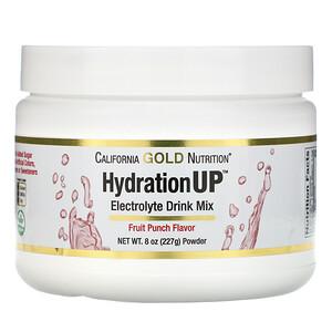 California Gold Nutrition, HydrationUP, Electrolyte Drink Mix Powder, Fruit Punch, 8 oz (227 g) отзывы покупателей