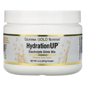 California Gold Nutrition, HydrationUP, Electrolyte Drink Mix Powder, Tropical Fruit, 8 oz (227 g) отзывы покупателей