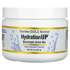 California Gold Nutrition, HydrationUP,電解質飲品混合粉劑,葡萄味,8 盎司(227 克)