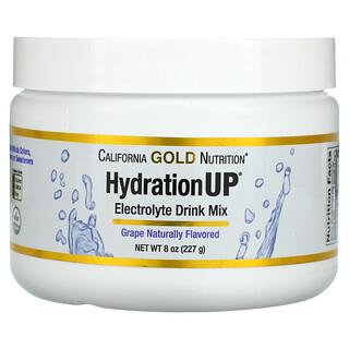 California Gold Nutrition, HydrationUP, порошок для приготовления электролитического напитка, виноград, 227г (8унций)