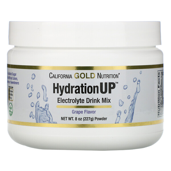 HydrationUP, Electrolyte Drink Mix Powder, Grape, 8 oz (227 g)