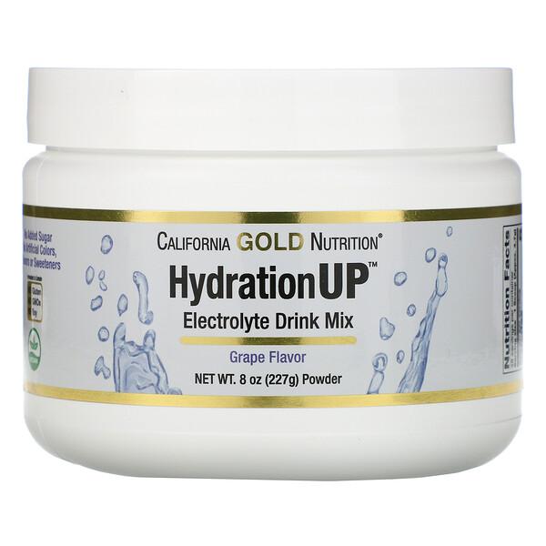 HydrationUP, Mezcla en polvo para preparar bebidas con electrolitos, Uva, 227g (8oz)