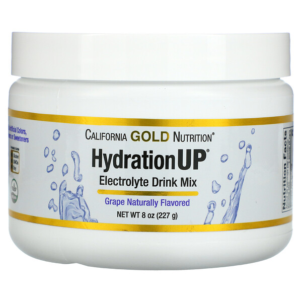 HydrationUP, Electrolyte Drink Mix Powder, Grape, 8 oz (227 g)