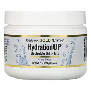California Gold Nutrition, HydrationUP, Electrolyte Drink Mix Powder, Grape, 8 oz (227 g) отзывы покупателей