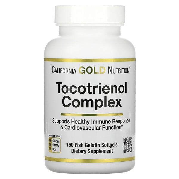 Tocotrienol Complex, Vitamin E and Mixed Tocotrienols, 150 Fish Gelatin Softgels