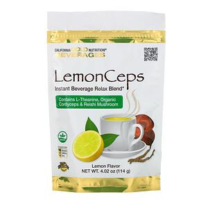 California Gold Nutrition, LemonCeps, Relax Blend Instant Beverage with L-Theanine, Organic Reishi and Cordyceps Mushroom, 4.02 oz (114 g) отзывы покупателей