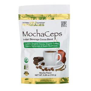 California Gold Nutrition, MochaCeps, Mocha Flavor Instant Beverage with Organic Cocoa, Coffee, Cordyceps and Reishi Mushroom, 5.36 oz (152 g) отзывы покупателей