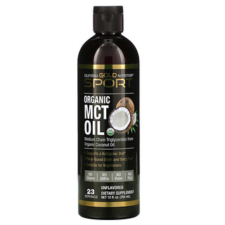 California Gold Nutrition, 有机中链甘油三酯油,12 液量盎司(355 毫升)