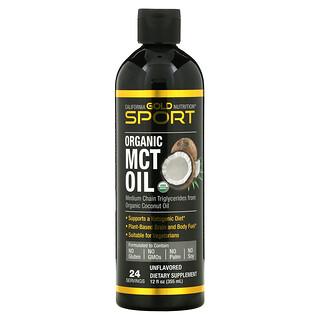California Gold Nutrition, Organic MCT Oil, Bio-MCT-Öl, 355ml (12floz.)