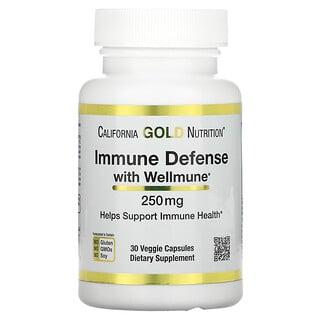 California Gold Nutrition, Wellmune(ウェルミューン)配合イミューンディフェンス、ベータグルカン、250mg、ベジカプセル30粒