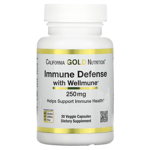 Immune Defense with Wellmune, Beta-Glucan, 250 mg, 30 Veggie Capsules