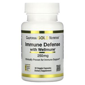 California Gold Nutrition, Immune Defense with Wellmune, Beta-Glucan, 250 mg , 30 Veggie Capsules отзывы покупателей