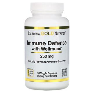 California Gold Nutrition, Immune Defense with Wellmune, Beta-Glucan, 250 mg,  90 Veggie Capsules