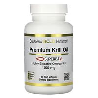 California Gold Nutrition, SUPERBA2™ Premium Krill Oil, 1000 mg, 60 Softgels