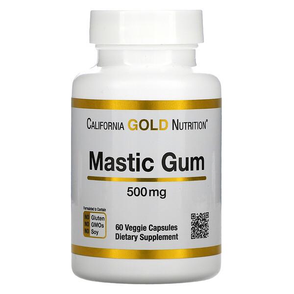 Goma de Mástique, 500 mg, 60 Cápsulas Vegetais