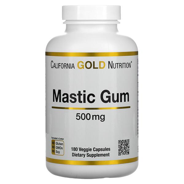Goma de Mástique, 500 mg, 180 Cápsulas Vegetais