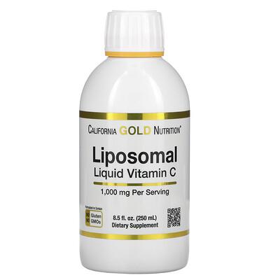 California Gold Nutrition липосомальный жидкий витамин C, с нейтральным вкусом, 1000мг, 250мл (8,5жидк.унции)