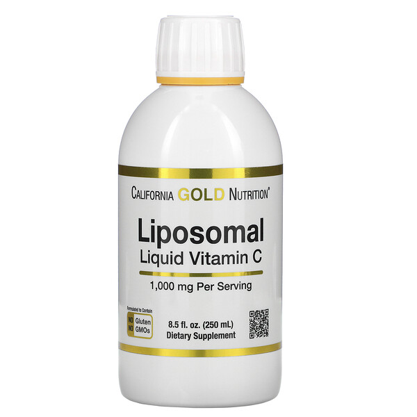 Liposomal Liquid Vitamin C, Unflavored, 1,000 mg, 8.5 fl oz (250 ml)