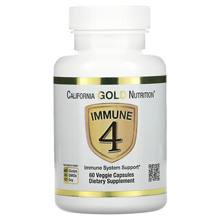 California Gold Nutrition, Immune4, средство для укрепления иммунитета, 60вегетарианских капсул