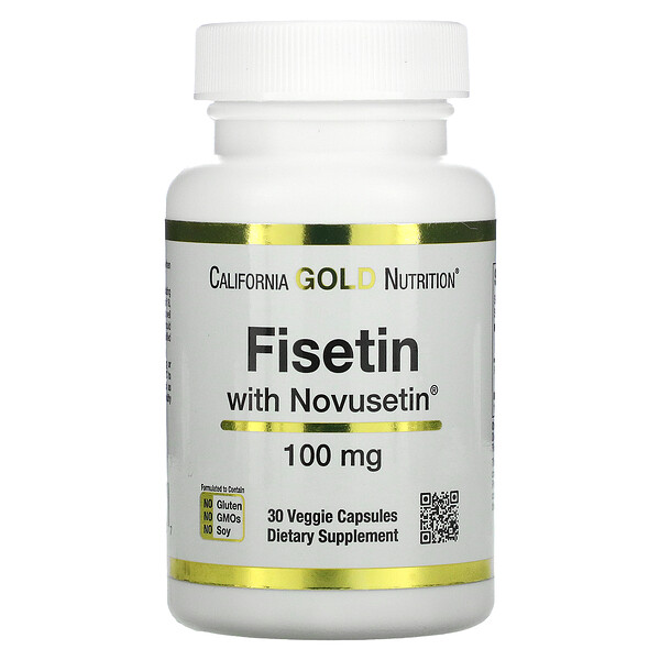 California Gold Nutrition, Fisetin with Novusetin, 100 mg, 30 Veggie Capsules