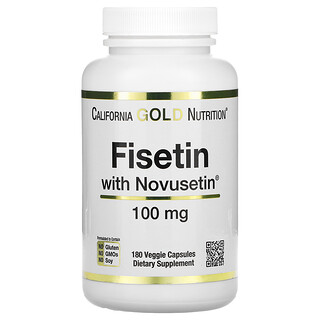 California Gold Nutrition, Fisetin with Novusetin, 100 mg, 180 Veggie Capsules