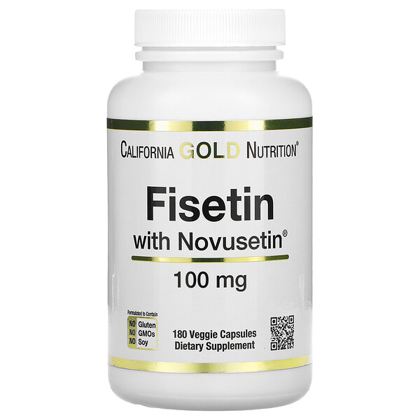 California Gold Nutrition, Fisétine avec Novusetin, 100mg, 180capsules végétales
