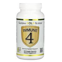 California Gold Nutrition, Immune 4, תמיכה במערכת החיסון, 180 כמוסות צמחיות