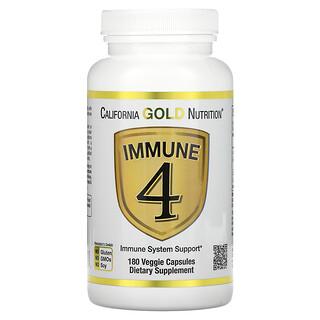 California Gold Nutrition, 机体抵抗 4 机体抵抗系统支持素食胶囊,180 粒装