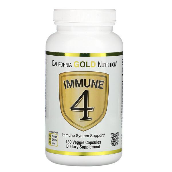 Immune 4, Auxílio ao Sistema Imunológico, 180 Cápsulas Vegetais