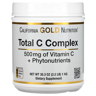 California Gold Nutrition, 總 C 複合物、維生素 C + 植物營養素,500 毫克,2.2 磅(1 千克)