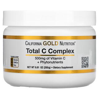 California Gold Nutrition, Total C Complex, Vitamin C + Phytonutrients, 500 mg, 8.81 oz (250 g)
