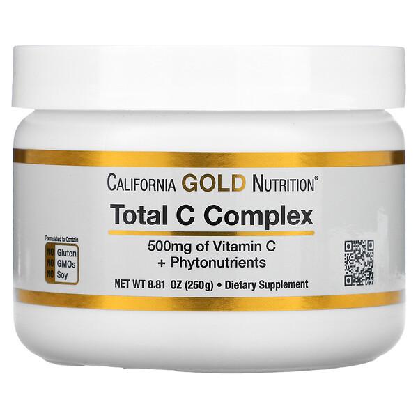 總 C 復合物、維生素 C + 植物營養素,500 毫克,8.81 液量盎司(250 克)
